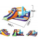 Inflatable Kids Jumping Castle Slide Toddler Bounce House Slide with Air Blower for Kids Outdoor Party