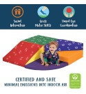 ECR4Kids-ELR-12669 SoftZone Tiny Twisting Foam Corner Climber - Indoor Active Play Structure for Toddlers and Kids - Soft Foam Play Set, Primary