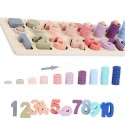 CHENZHIQIANG Intelligence Toys Great Preschool Wooden Count Geometric Shape Cognition Match Baby Early Education Teaching Aids Math Toys