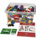 PLUS PLUS BIG - Open Play Set - 600 Piece in Storage Tub- Basic Color Mix, Construction Building Stem Toy, Interlocking Large Puzzle Blocks for Toddlers and Preschool