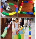 DYYD Kids Indoor and Outdoor Balance Beam Promote Agility, Strength, Active Play Kids Preschool Learning Toy Stepping Stones for Kids