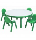 Baseline Preschool Kids 5 Piece Writing Table and Chair Set, Chair/Stool Weight: 5 lb, Seating Weight Capacity: 100 lb.