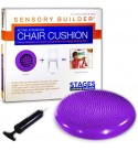 Stages Learning Sensory Builder Class Pack of 10 Active Attention Chair Cushion for Wiggly Bottom Kids Seat, Purple, 13