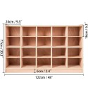 Happybuy Cubby Wooden Storage Unit 20 Cubby Storage Unit Classroom 30 Inch High Birch Plywood Wooden Cubbies for Classroom