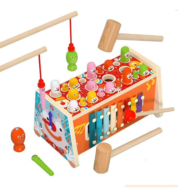 NICELIVING Preschool Toys Baby Toddler Toys Multifunctional Kids Toy Fishing Toy 1 2 3 4 Educational Toys for Boys and Girls to Exercise Handeye Coordination (Color : 3pieces)