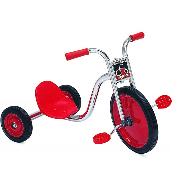 Angeles SilverRider Super Cycle 3 Wheel Toddler Trike, Tricycle for Kids 4-6, Girls/Boys Big Front Wheel Trike, Preschool/Daycare/Homeschool Use, Red