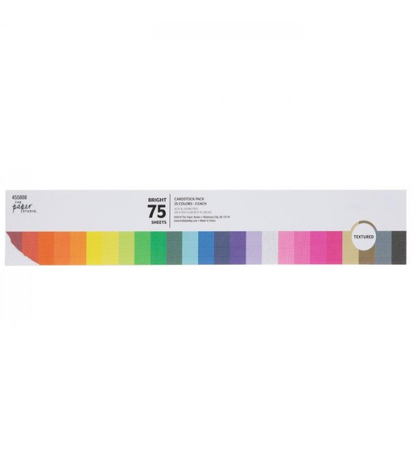 Bright Textured Card  Paper Pack