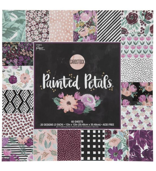 Painted Petals Card  Paper Pack