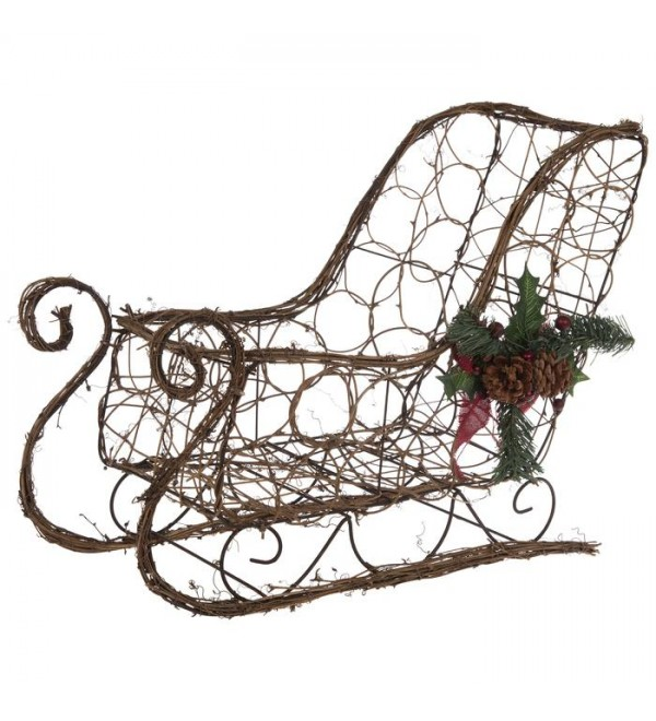 Grapevine Sleigh With Pinec s